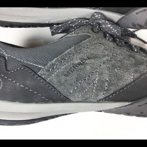 Merrell Shoes - MERRELL GRANITE Gray Suede Leather Sneakers J42282